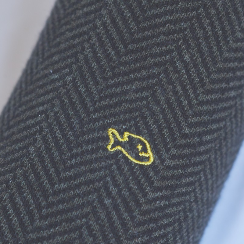 Chaussettes coton Chevrons Kaki