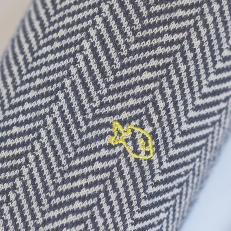 Chaussettes coton Chevrons Bleu Horizon