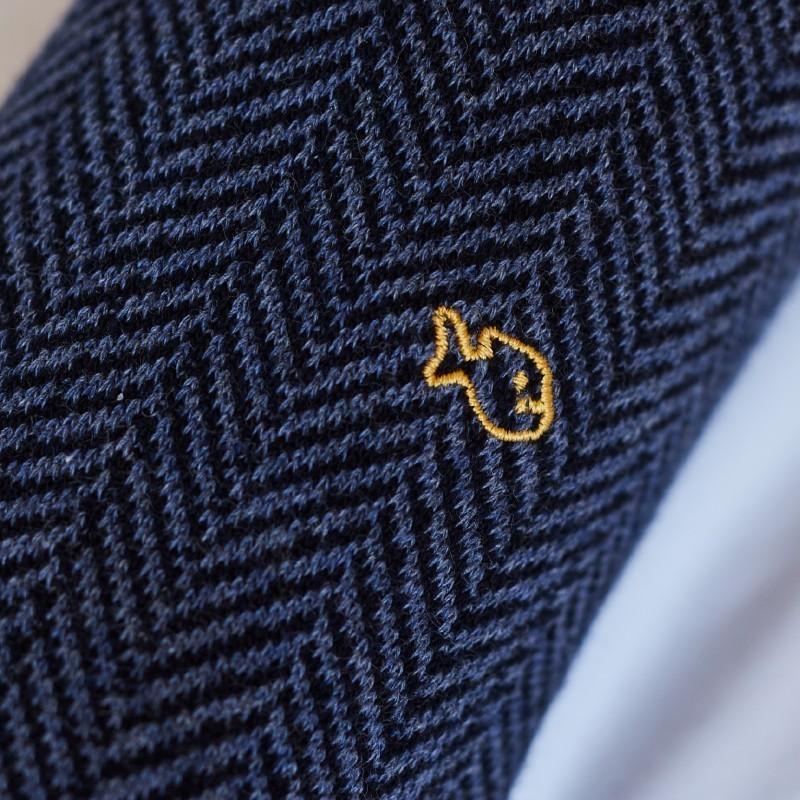 Chaussettes coton Chevrons Bleu Océan