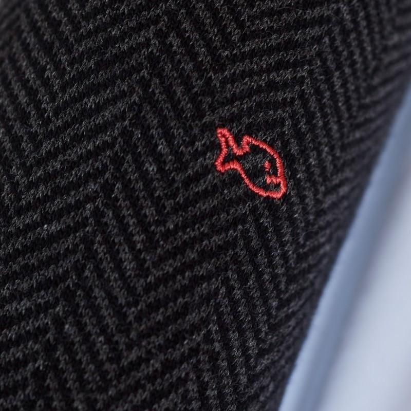 Cotton socks Charcoal Herringbone