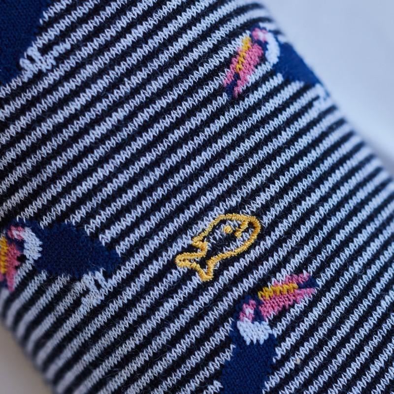Cotton socks - animal design - Pink Toucan