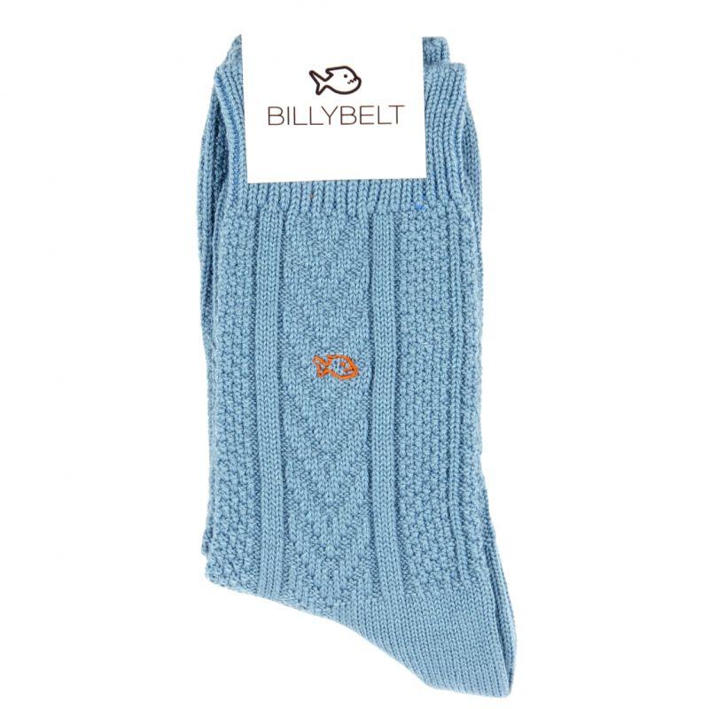 Azure Merino wool socks