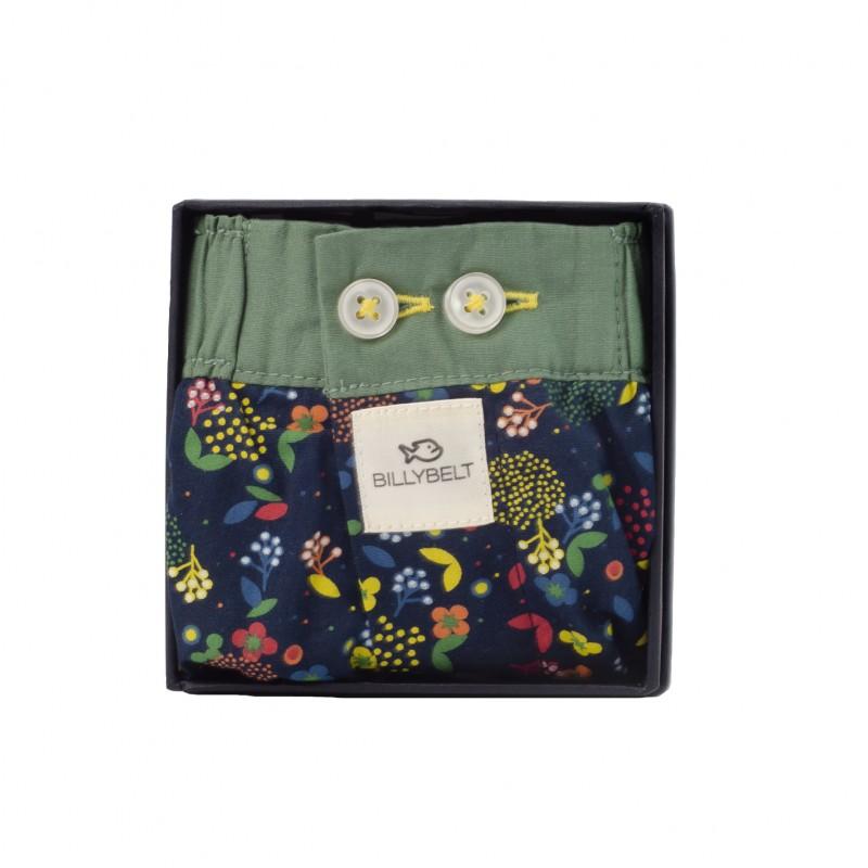 Organic cotton boxer shorts Flores