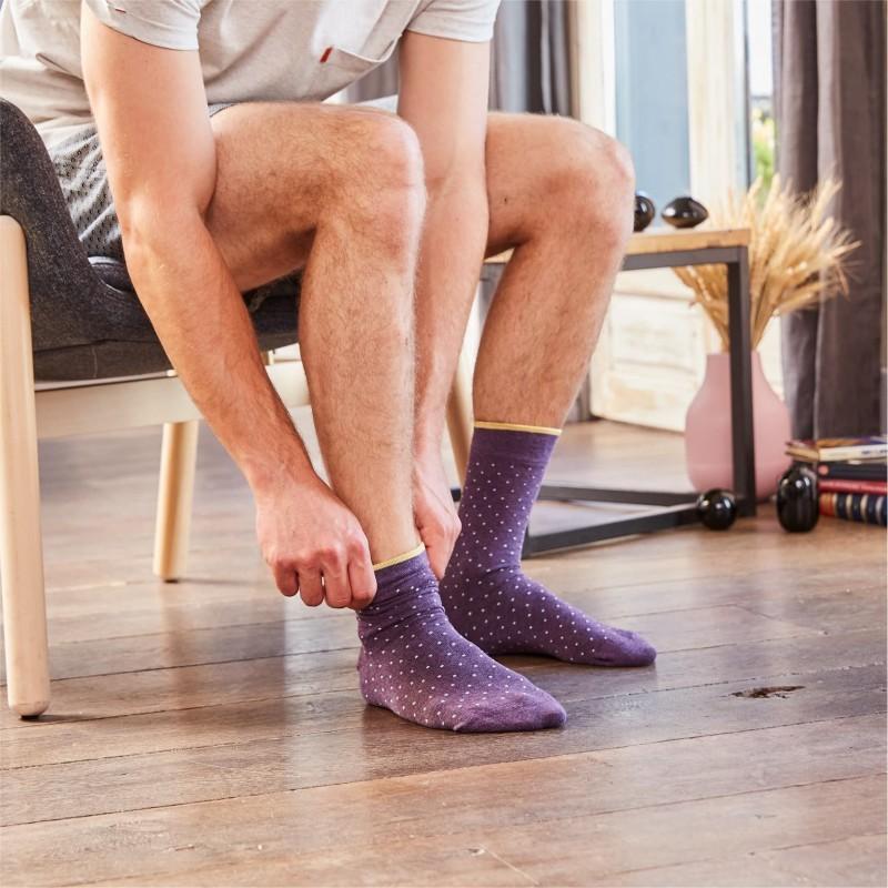 Cotton socks Violet Square