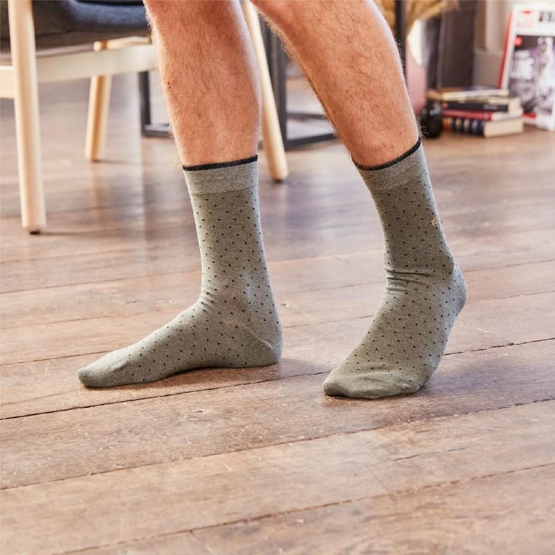 Cotton socks Khaki Square