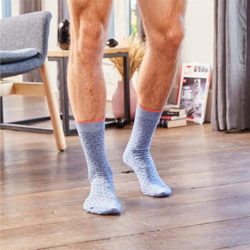 Cotton socks Blue Jean Square