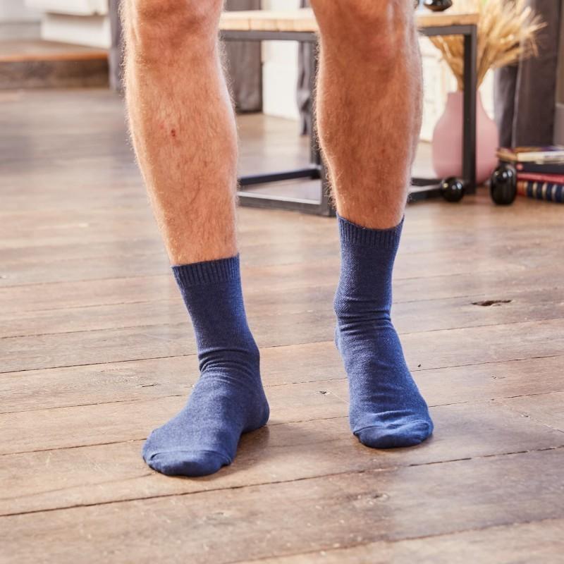 Pique knit socks Navy Blue