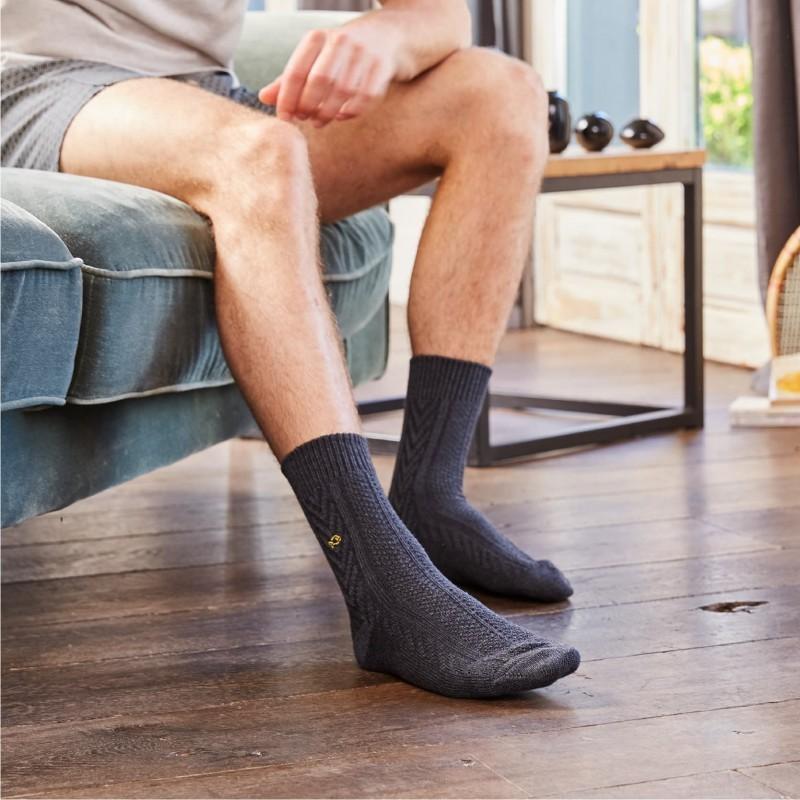 Charcoal Merino wool socks
