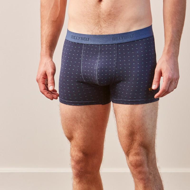 Organic cotton boxer brief  Navy Dots