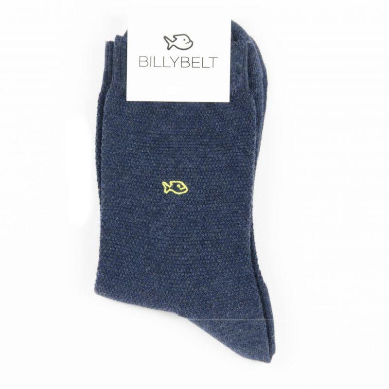 Chaussettes maille piquée  Bleu Marine