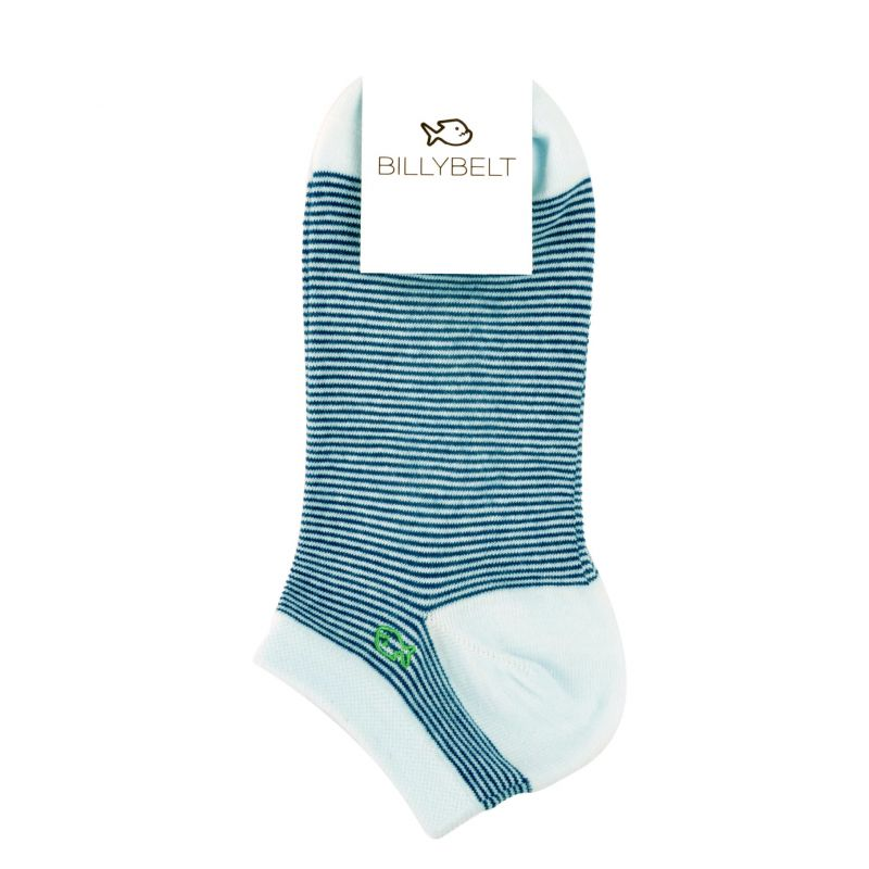 Striped navy blue ankle socks