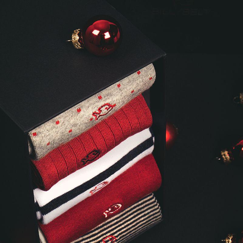 Five cotton socks gift box