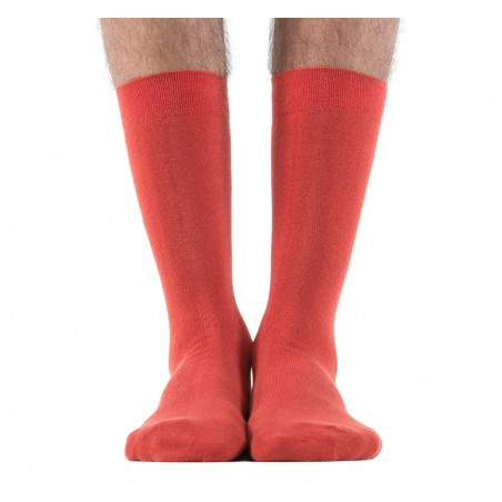 Chaussettes rouges Brique