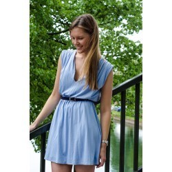 Thin woven belt  Navy Blue