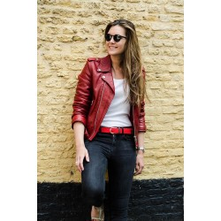 Red Grenade braided belt women