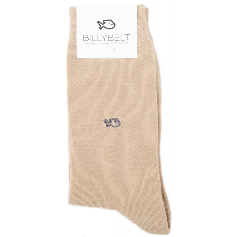 Beige Caramel Cotton Socks