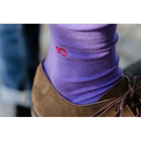 Chaussettes Violette Coton