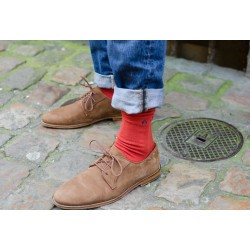 Red Brick Cotton Socks