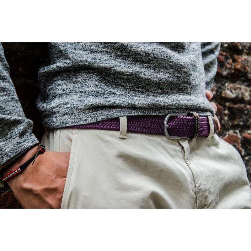 Parme braided belt for men
