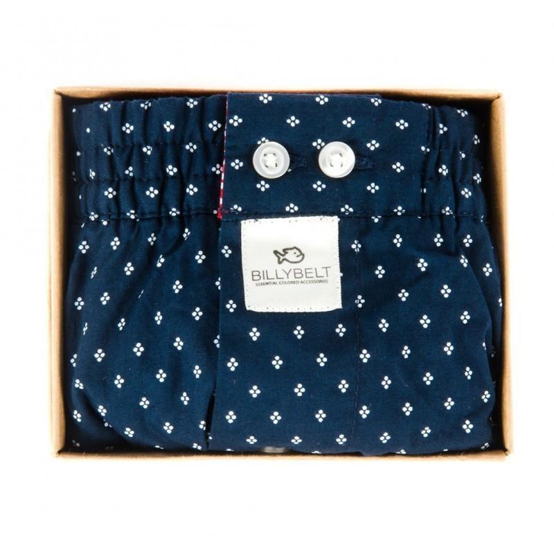 Caleçon coton rond bleu homme