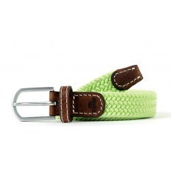 Lime braided Belt