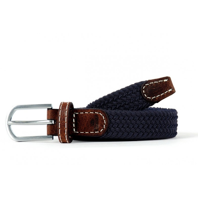 Navy Blue braided Belt