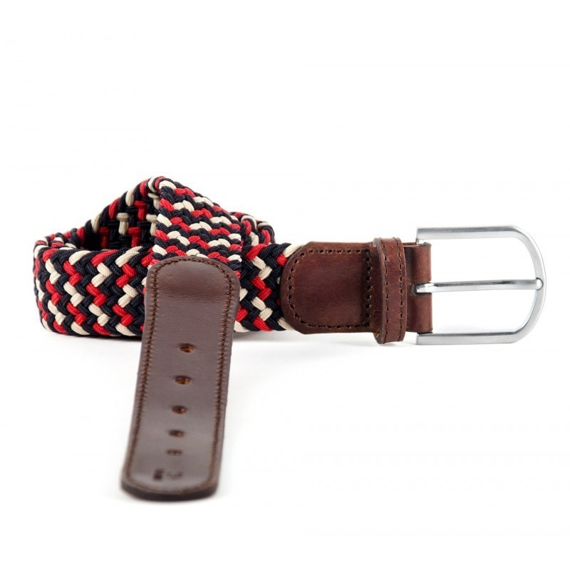 The 33 leather braided belt men