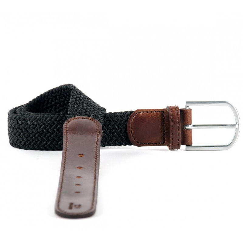 Black Trendy collection braided belt