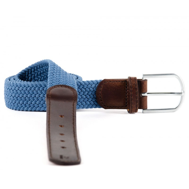 leather braided belt men