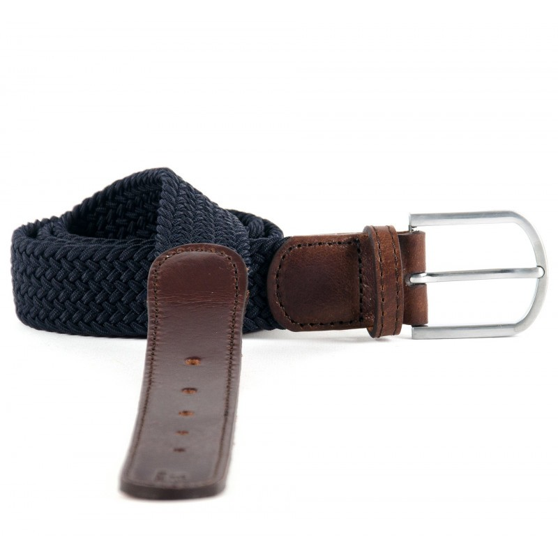 Ceinture tressée Trendy collection Navy