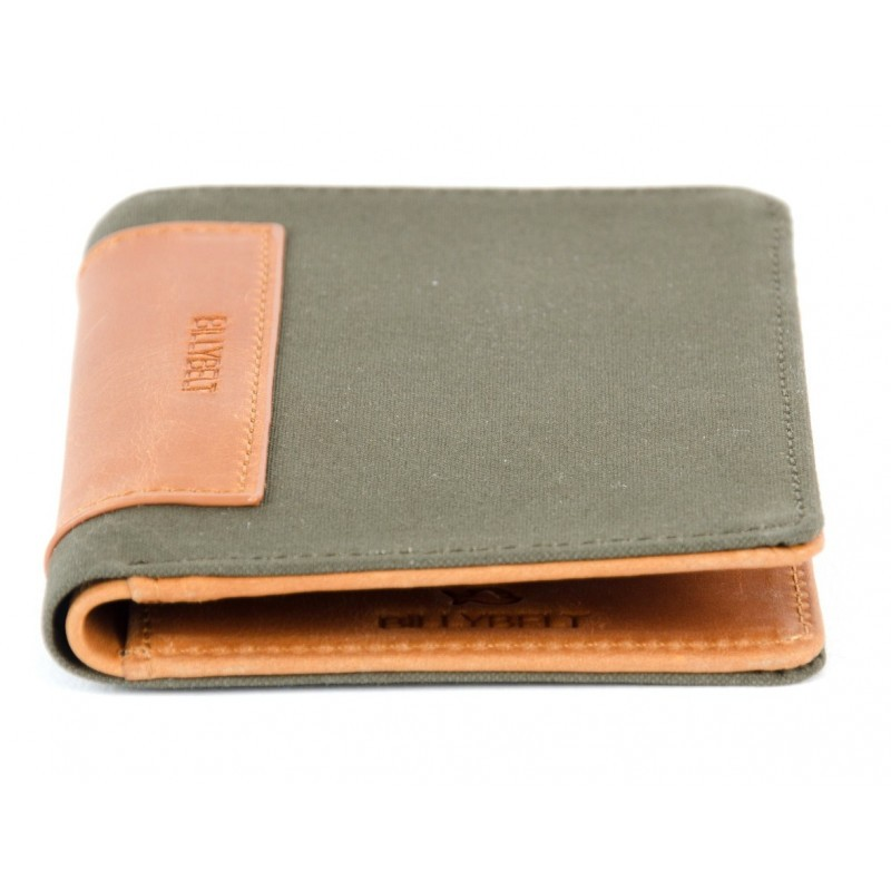 Leather wallet for men khaki