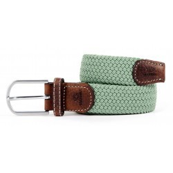 Almond green braided belt for women