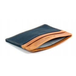Navy slim card holder