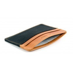 Black slim card holder