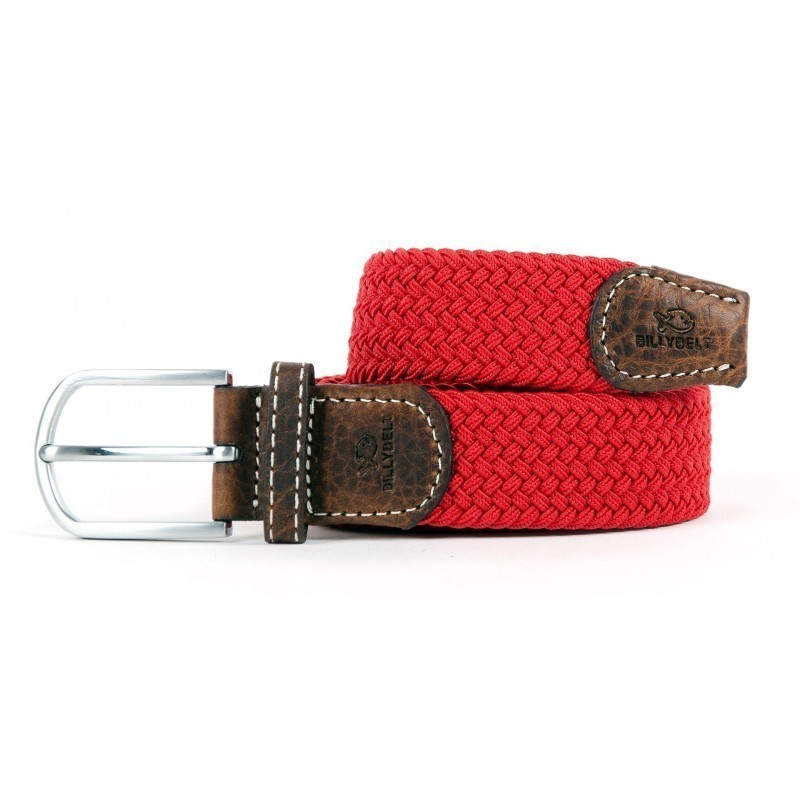 Red Grenade braided belt for men