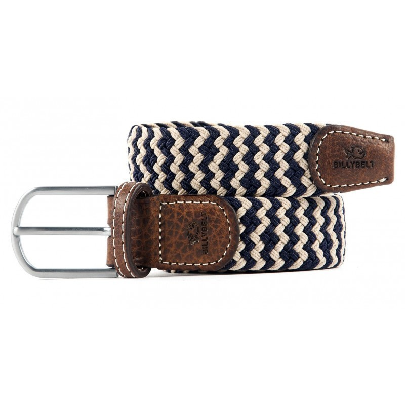 Normande braided belt for men