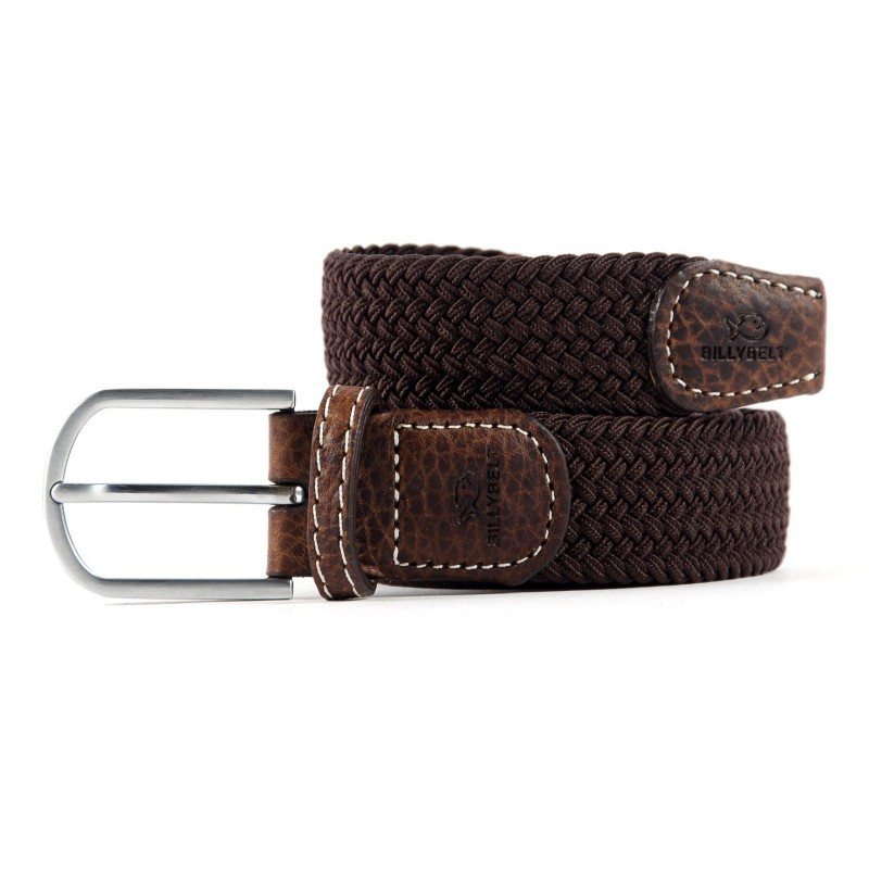 Brown Leaf braided belt for men