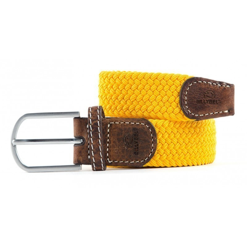 Yellow Saffron braided belt for men