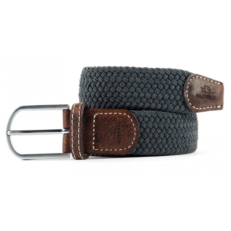 Flannel Grey braided belt for men