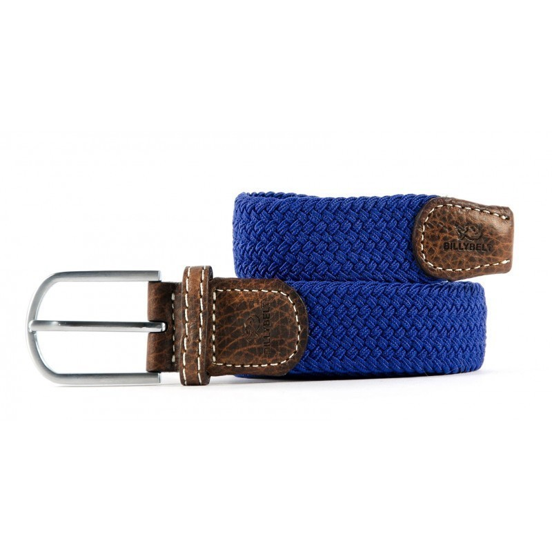 Royal Blue braided belt for men