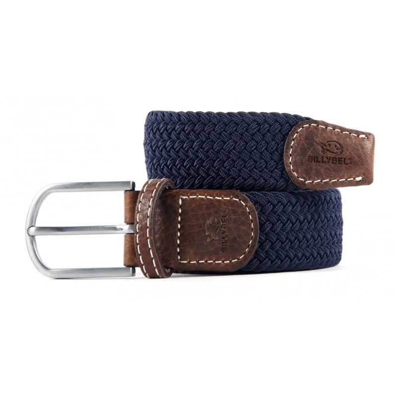 Navy Blue braided belt for men
