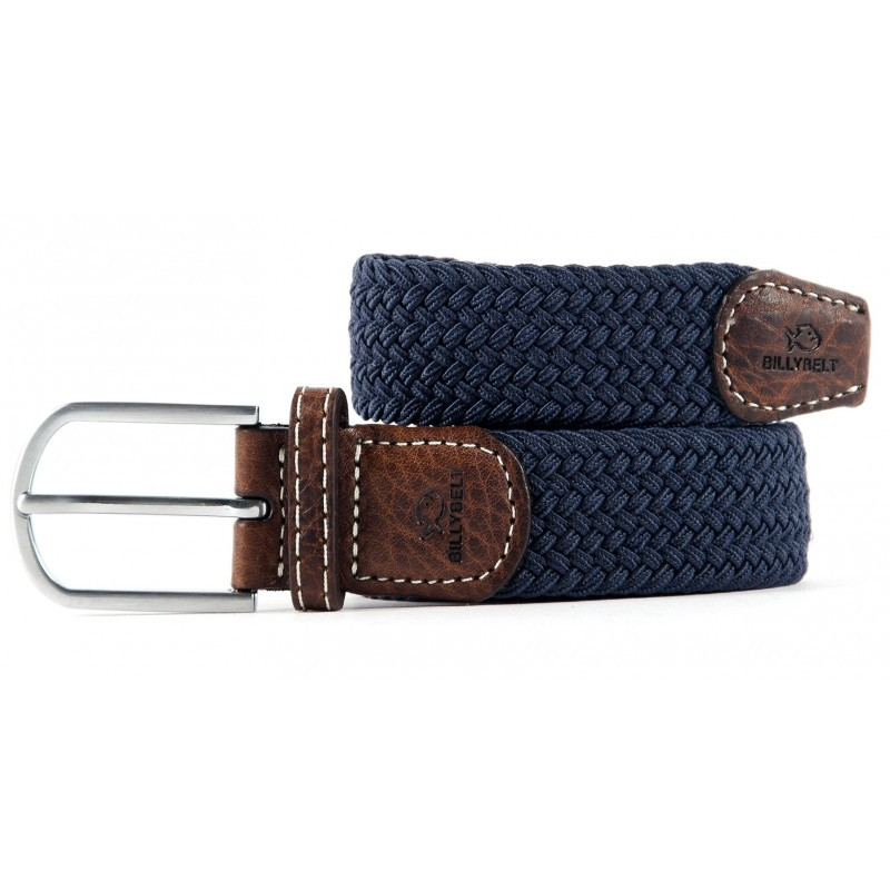Slate blue braided belt for men