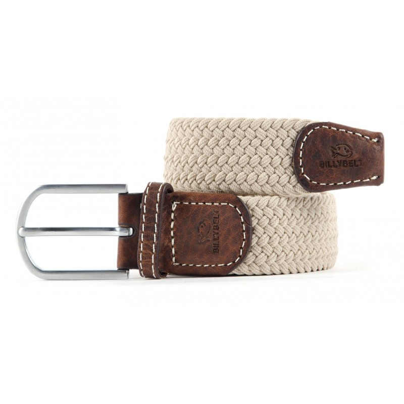 Sandy Beige braided belt for men