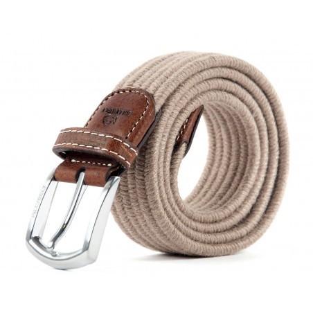 9bf438a3903 Ceinture tressée beige laine et coton pour homme Taille Taille 1