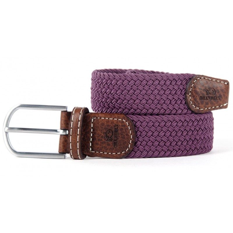 Aubergine braided belt women