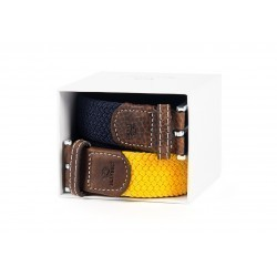 Belts gift box  Saffron and Navy