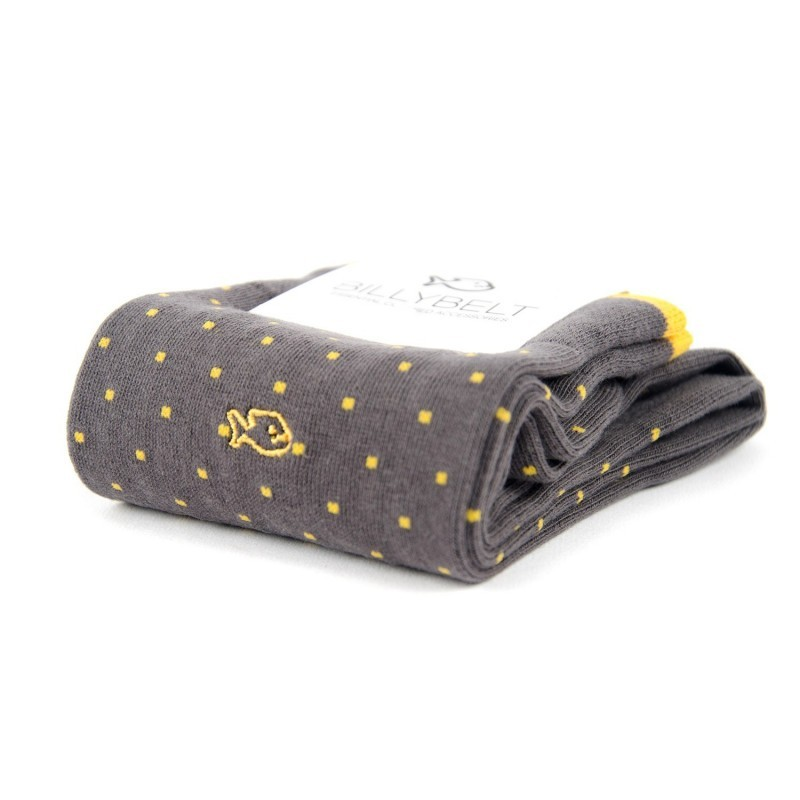 Chaussettes coton  Gris Square