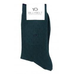 Chaussettes Vert Square remaillées main