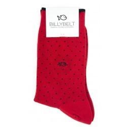 Chaussettes Rouge Square remaillées main