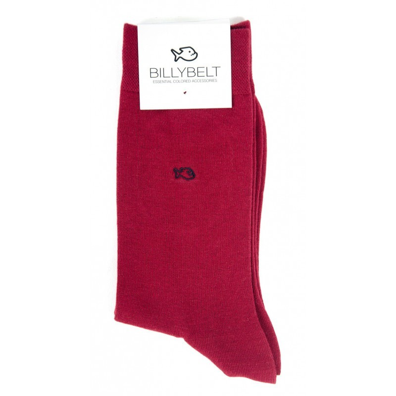 Men Socks Burgundy